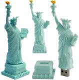주문 3D 로고 선전용 선물 PVC 고무 USB 섬광 드라이브