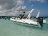 Liya 6.6mの膨脹可能なボートの操向システムのガラス繊維の漕艇
