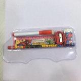 Contenitore di matita dello stagno del metallo di figura dell'automobile con la finestra di PMMA