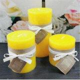 Gelbe rustikale traditionelle Pfosten-Kerze für Europa-Markt