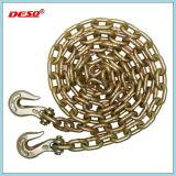 Блок для сшивания кольцами нагрузки цепи строп с двумя крючками с каждой стороны
