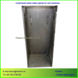 Gabinete personalizado da soldadura do OEM do metal de folha do cerco da máquina de entalhe