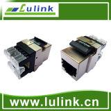 O melhor preço de cabo UTP CAT6A tomada de keystone 180 Grau de tipo curto