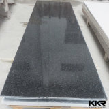 建築材料の純粋で黒い人工的な石造りのアクリルの固体表面(171030)