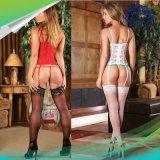 Sexy Corset Garter ремень Женское нижнее бельё женщин цветочным кружевом Sleepwear