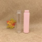100ml Emtpy Color plastic Cosmetics Cylinder Pet toner Bottle with Aluminum Cap