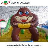 Corrediça inflável do Bouncer do gorila para o partido dos miúdos