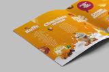 Sattel nähte den vier Farben-Broschüre gedruckten Service Alibaba