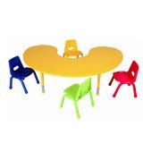 Cadeira de viveiros de metal de madeira ajustável e mesa