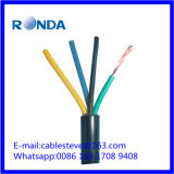Sqmm elétrico flexível do cabo de fio 4X1.5 de H05VV
