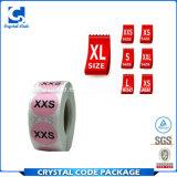 De promotie Stickers van de Etiketten van de Grootte van de Kleding van de Kleur