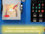 De hoge Gietende Machine van het Passement van de Precisie 1kg Zilveren 2kg Gouden Vacuüm