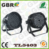 Gbr IGUALDAD impermeable de la etapa LED de 54PCS x de 3W DMX puede