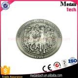 A moeda feita sob encomenda barata do desafio do ferro da alta qualidade com grava o logotipo