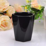 Matte Black Cup Ceramic Candle Wholesale Container
