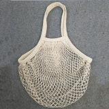 Long sac de maille de coton de traitement pour le légume et le fruit d'emballage