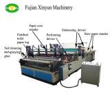 Papel higiénico pequeno rebobinado automático que faz o preço da máquina
