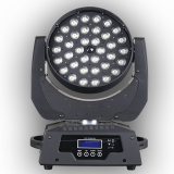 36 RGBW 풀 컬러를 가진 PCS 10W LED 급상승 이동하는 맨 위 빛