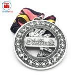 Abitudine 3 pollici che placcano la medaglia d'argento antica di maratona
