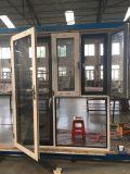 Guichet thermique en aluminium personnalisé d'interruption de qualité avec le double vitrage/double couleur