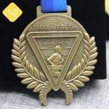 Высокое качество пластину Gold спорта работает пользовательский марафон медалей