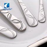 Het decoratieve Zilveren Tafelgereedschap van het Roestvrij staal van het Ontwerp van de Douane van het Patroon
