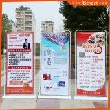 ドアの形80*180cmの表示旗の立場を広告するための広い陳列台