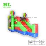 Hochwertiges buntes Ballon-Thema-aufblasbares kombiniertes mit Plättchen, damit Kinder Unterhaltungs-Sport-Spiel tun