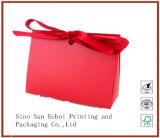 安い習慣はロープのハンドルが付いているロゴによって印刷される包装のペーパーギフト袋を卸し売りする