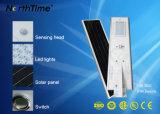 60W ultra lumineuses solaire tout-en-un avec lampe de la rue LED Bridgelux