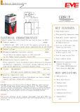 Batterie primarie del litio Limno2 Cr9V del Eve