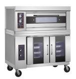 Edelstahl Ein-Schicht-Zwei Tellersegmente 400 º Cgas Ofen mit Proofer