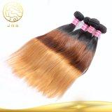 Farben-Haar des wirkliche Jungfrau-peruanisches gerade Ton-drei