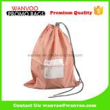 Promotionnel amical en nylon rose d'Eco de sac de cordon pour le bijou