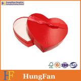 Rectángulo de papel de empaquetado de la boda del caramelo de chocolate de la dimensión de una variable del corazón