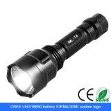 Промо-акции! C8 XPE 4W размера 18650 Rechareable светодиодный фонарик