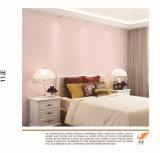 Bello PVC Wallpaper di Laminate Pink della camera da letto di Best Quality