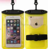 Poche de téléphone d'épreuve de l'eau avec la bande de bras