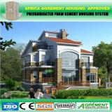 A forma projetou a casa Prefab de aço clara luxuosa/casa modular