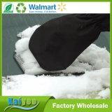 Raspador plástico morno do gelo da pá da neve do carro com luva