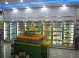 Werbung zwei Glas-Tür gekühlte Bildschirmanzeige-Kühlvorrichtung für Getränke