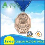 Medaglia d'argento pura di colore per il premio della concorrenza