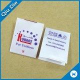 Contrassegno di carta dei vestiti di stampa di colore completo di Tyvek del fornitore cinese