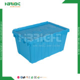 Stapelbarer logistischer Plastikbehälter mit Kappe