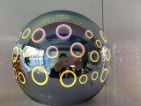둥근 3D 유리 대중음식점/식당을%s 3개의 다른 크기 거는 램프 점화