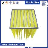 Фильтр выдвинутой стеклоткани средств карманный для системы HVAC
