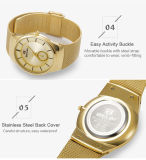 L'argento sottile dell'oro del nero della vigilanza del quarzo dell'orologio degli uomini dell'acciaio inossidabile di Belbi accetta l'azienda di servizi di OEM&ODM
