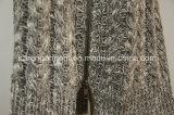 Roupa da venda por atacado da camisola do Zipper do Knit do cabo das senhoras