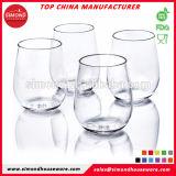 Vidros de vinho plásticos Stemless flexíveis novos da forma