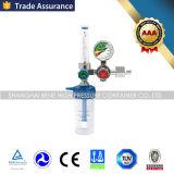 Régulateur médical approuvé de l'oxygène d'OIN de la CE de FDA avec le débitmètre d'humidificateur
